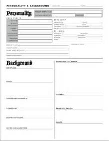 character profile template google search writing and