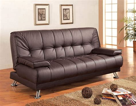 sofa beds faux leather convertible sofa bed  removable