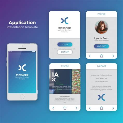 mobile app for mobile application interface vector free