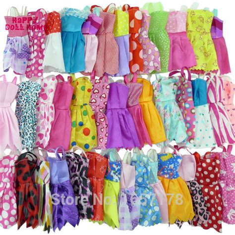 10x Kid Mini Dress Dolls Fashion Clothes Mixed Style For Pa handmade clothes reviews shopping handmade