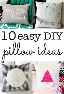 diy pillow ideas ten ideas you can make in minutes