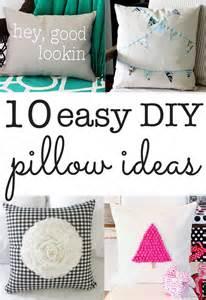 diy pillow ideas ten ideas you can make in minutes