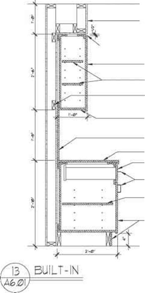 Kitchen Wall Cabinet Height Types Of Section Drawings Construction Drawings