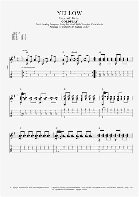 coldplay chords yellow guitar guitar tabs yellow coldplay guitar tabs yellow