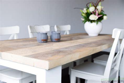 teak tafel dikke poten steigerhouten tafel met dikke planken millau