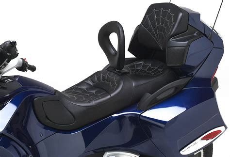 can am spyder seats can am spyder rt receives custom corbin seats and cup