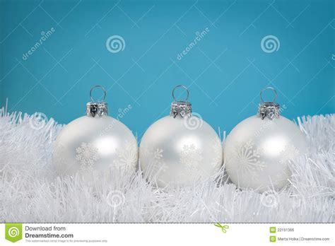 white baubles royalty free stock image image 22191366