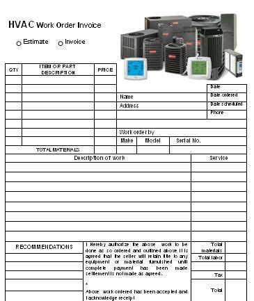 hvac receipt template 19 best hvac invoice templates images on free