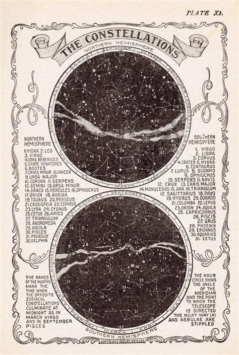 printable star constellations antique star constellations stock image high resolution