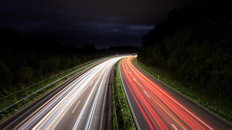 night traffic lights trails  wallpapers hd wallpapers
