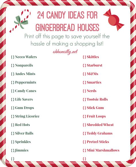 how to decorate a house how to decorate a gingerbread house candy ideas printable