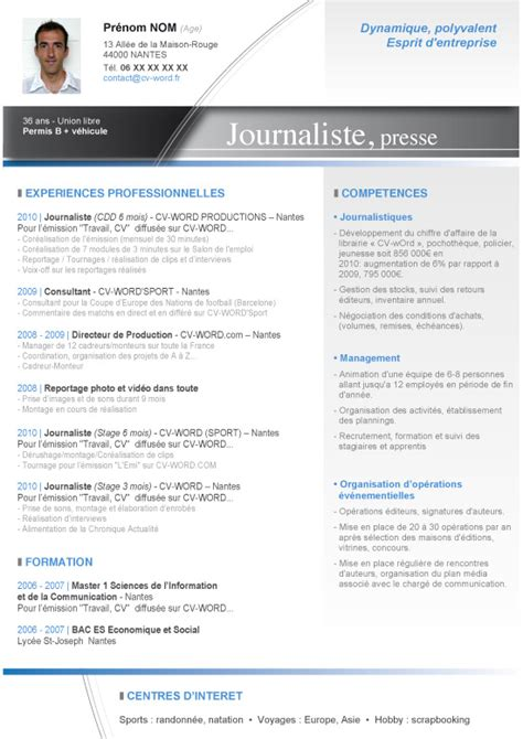 Exemple Lettre De Motivation Journaliste Exemple De Cv Journaliste Lettre De Motivation 2017