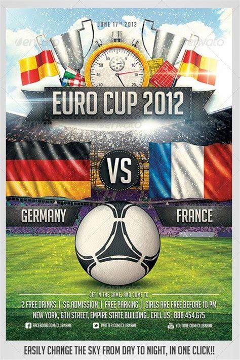 Top 10 Best Euro Soccer Psd Flyer Templates Football Template Psd