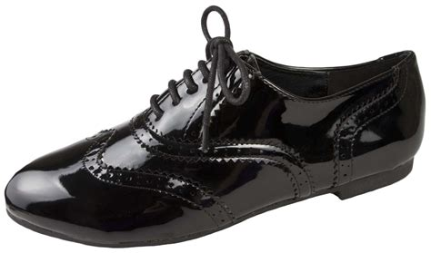 Lace Up Patent Shoes lace up brogues black school shoes patent womens