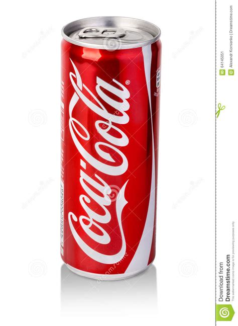 coca cola can on white background editorial photo image