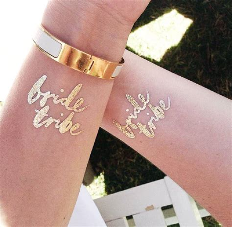 temporary metallic tattoos tribe gold metallic temporary by emilie
