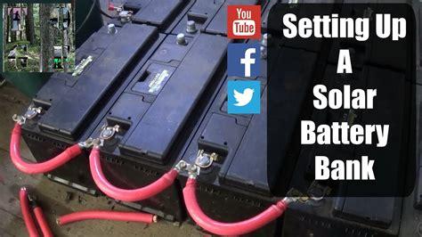 setting   solar battery bank simple processv