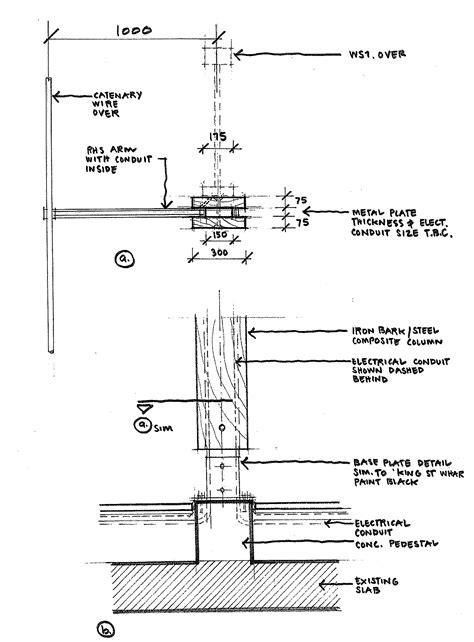 column section ink drawing michaelbanak
