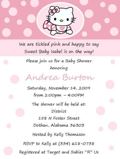 hello kitty baby shower invitations wblqual com