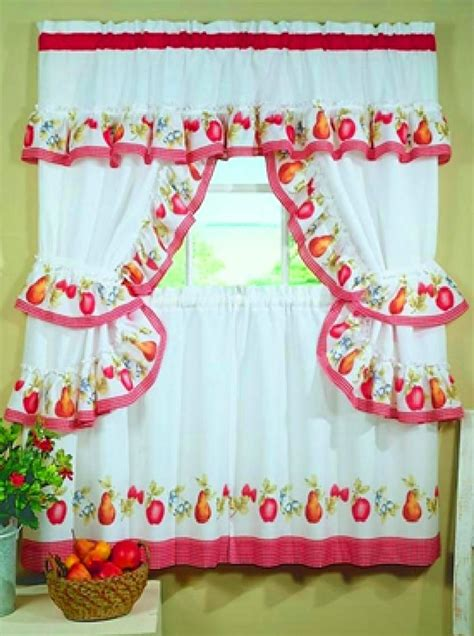 kitchen curtains fruit design fruitopia fruit print kitchen curtain red gingham check