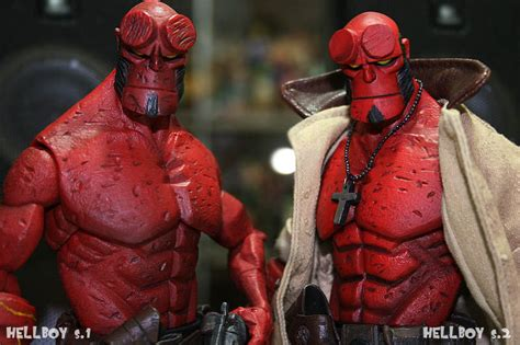 Kaos Hellboy White 1 hellboy mezco series 2 hb with trench coat my fav hellbo flickr