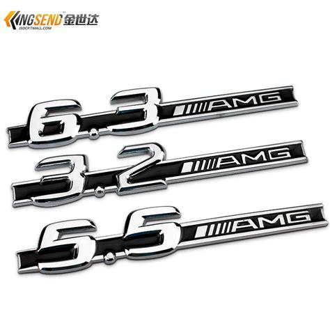 Emblem Metal Sticker Mercedes 5 5 Amg Logo 3d Silver Chrome c63 amg logo promotion shop for promotional c63 amg logo on aliexpress