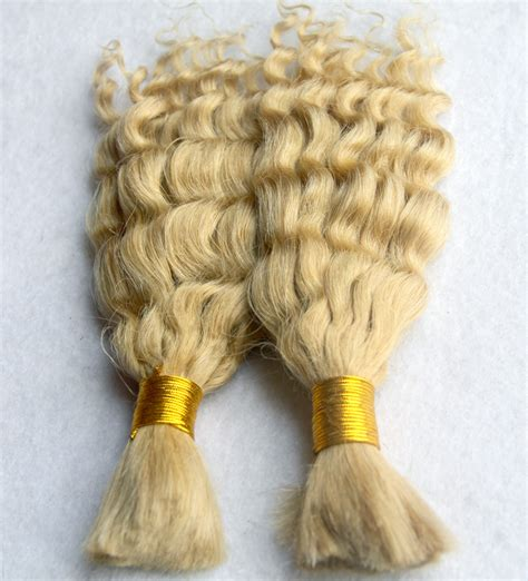remy human hair bulk for braiding bleach blonde human hair extensions hot 613 bleach blonde virgin bulk hair for braiding 7a