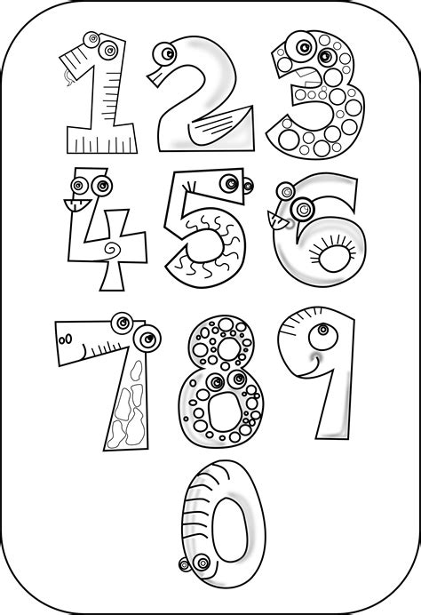 printable numbers black and white free printable coloring pages numbers 1 10 free best