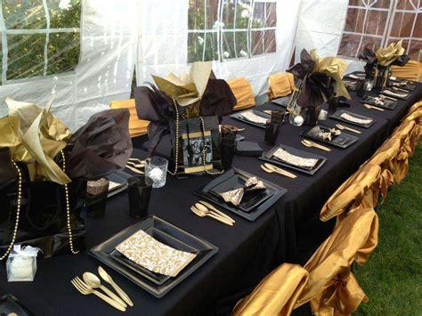 Black And Gold Birthday Decorations black gold birthday ideas photo 1 of 16 catch