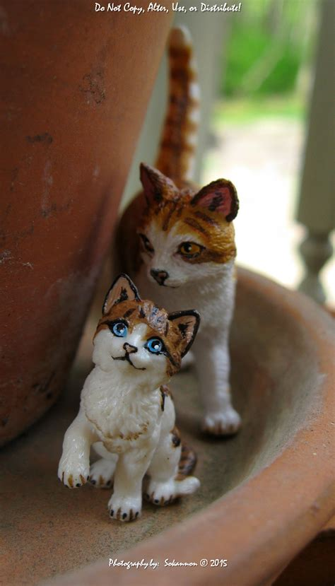 and kitten papo cat and schleich kitten by whitelightning wolf on deviantart
