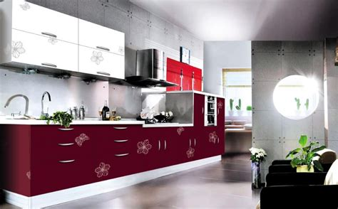 Melamine Paint For Kitchen Cabinets Modern Open Style Kitchen Cabinet Acrylic Doors Design