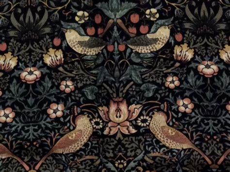 William Morris Quilting Fabric william morris brackman liberty style floral birds cotton quilting fabric moda mo13