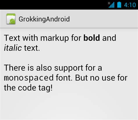 android string format android tip formatting text with html fromhtml grokking android