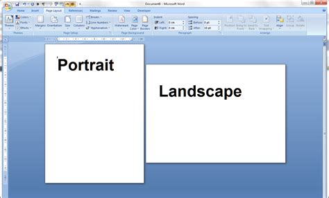 landscape layout in word 2003 portrait and landscape orientation in word and excel