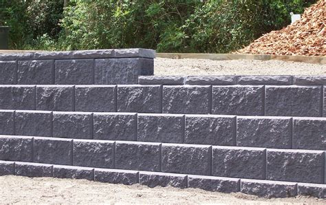 decorative concrete block retaining wall how to build a cinder block retaining wall with rebar