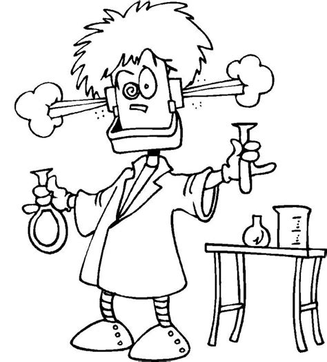 coloring book for scientists mad scientist coloring pages az coloring pages