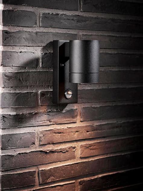 nordlux 21509103 tin maxi wall light gu10 sensor black