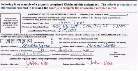 Oklahoma OTC Paperwork When Selling a Car   DMV.ORG