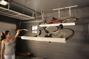 Bike Racks For Garage Ceiling by Storage Racks Motorized Storage