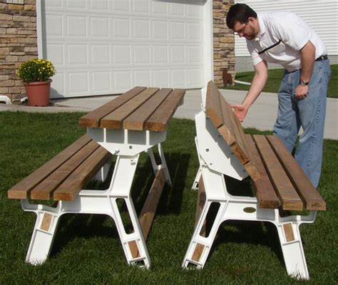 Metal Picnic Bench by Benches That Convert To Picnic Table Home Decoration Club