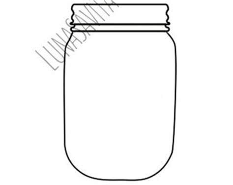 jar cut out template jar etsy