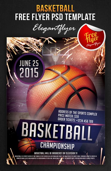 basketball flyer template basketball free flyer psd template co by
