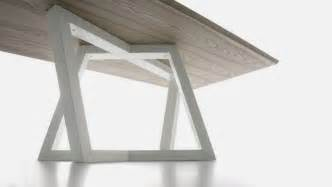 Dining Table Leg Modern Dining Table With Trapezoidal Legs Dedalo Home Building Furniture And Interior