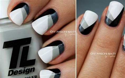 Nägel Lackieren Leicht by Black White Grey Nails Nails Pinterest