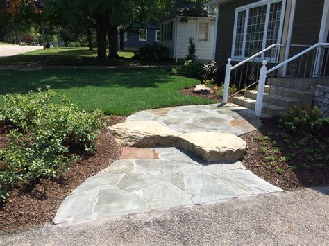 Flagstone Entryway custom paver entryways conrades landscape design