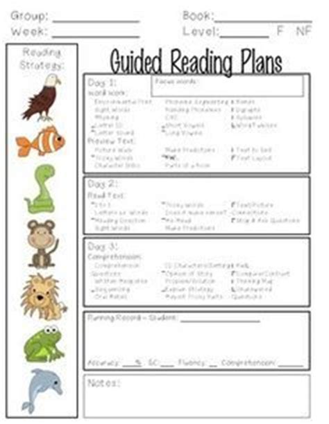guided reading lesson plan template 5th grade reading lesson plans for 5th graders lesson plans for