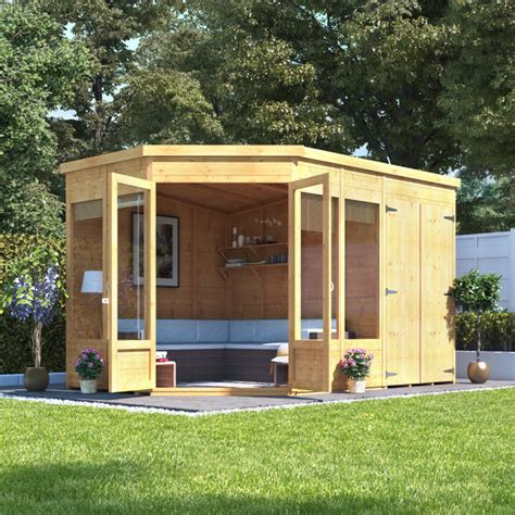 Corner Summerhouse With Shed by Billyoh Penton Corner Summerhouse With Side Store Wooden