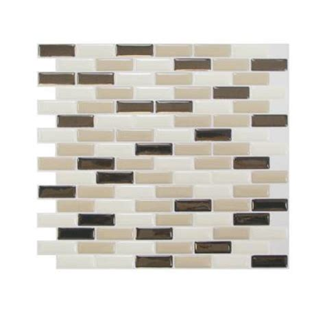 smart tiles 10 20 in x 9 10 in mosaic peel and stick