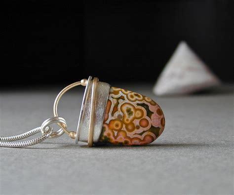 Handmade Silver Jewellery Etsy - jasper sterling silver 18kt gold jasper pendant