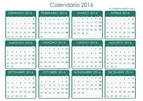 Calendario 2016 Con Settimane Isimsiz Calendario 2016